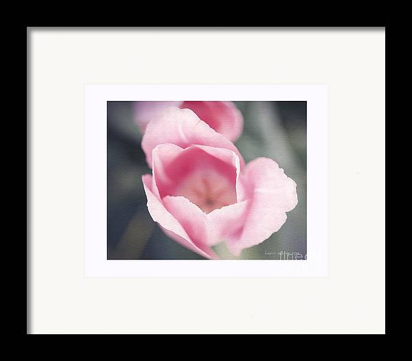 Flower Framed Print featuring the photograph Pink Tulip by Artist and Photographer Laura Wrede