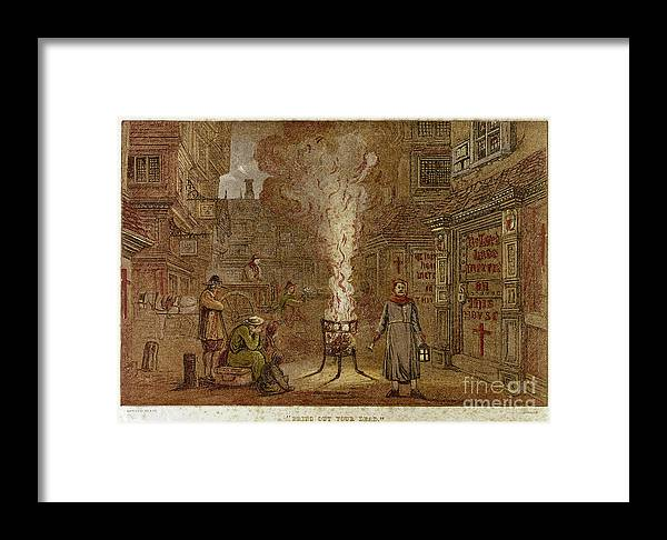 1665 Framed Print featuring the photograph Plague Of London, 1665 by Granger