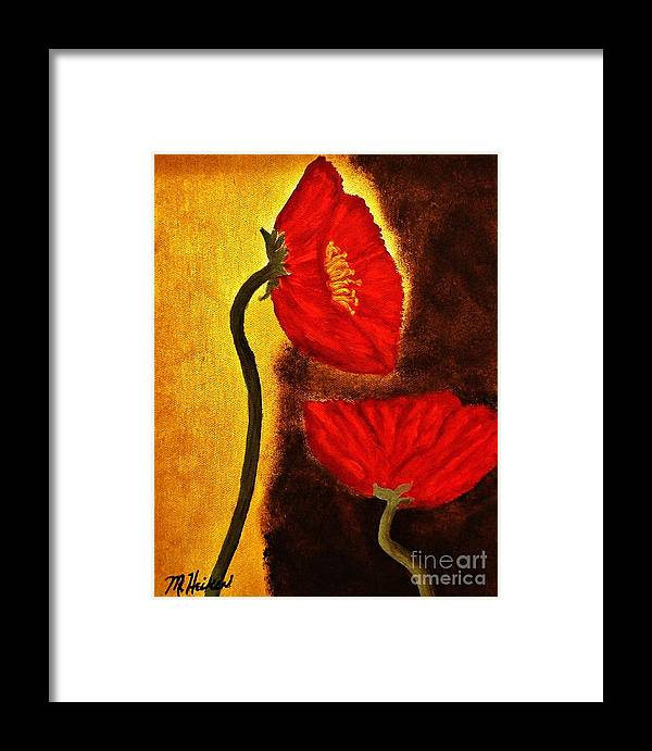 Painting Framed Print featuring the painting Poppy Ll by Marsha Heiken