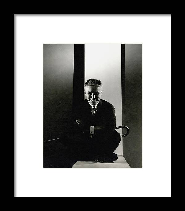 7a17b0a3190e1 Portrait Of Charlie Chaplin Framed Print by Edward Steichen