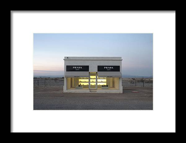 Larson Framed Print featuring the photograph Prada Marfa by Greg Larson