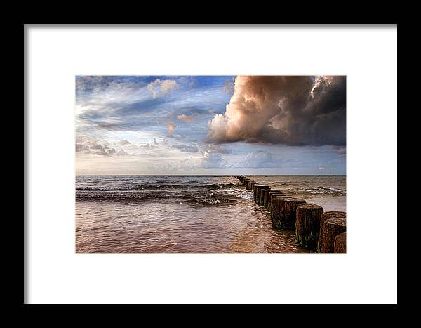 Ostsee Framed Print featuring the pyrography Prerow Beach by Steffen Gierok