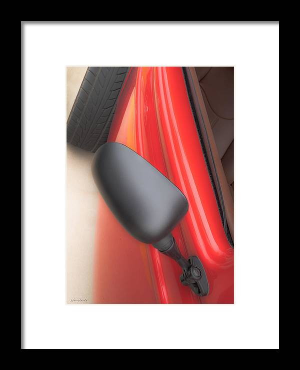 Autos Framed Print featuring the photograph Red Coupe by Steven Milner