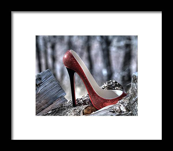Shoe Framed Print featuring the photograph Red Shoe by Sheila Faryna