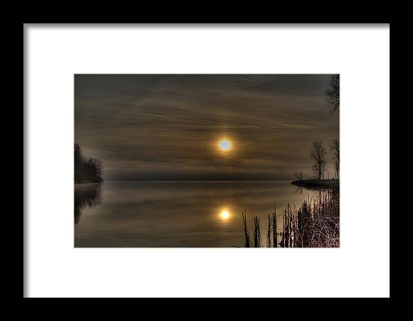 Sunrise Framed Print featuring the photograph Reflections by Michael Persichini
