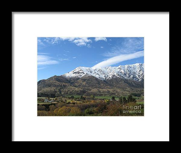 Queenstown Framed Print featuring the photograph Remarkables Mountains by Lines