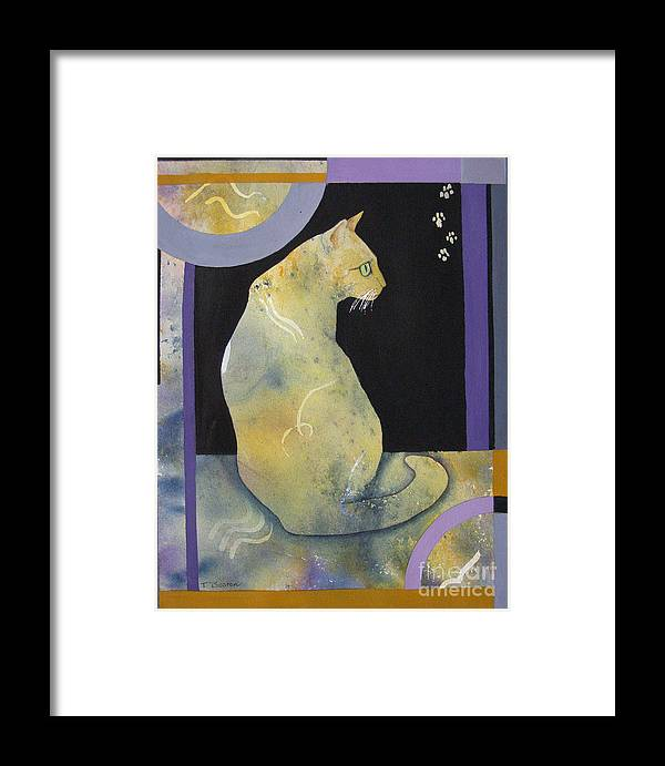 Cat Framed Print featuring the painting Reverie by Teresa Boston