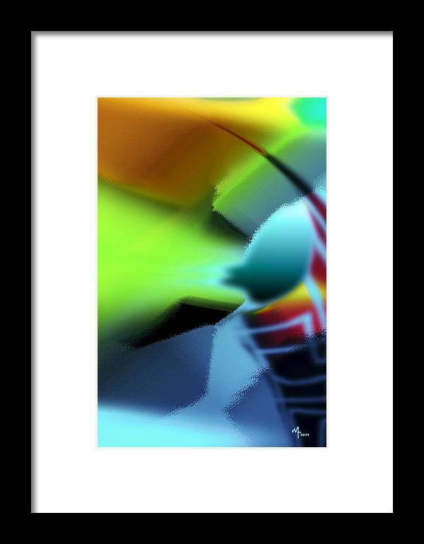 Colorful Abstract Framed Print featuring the digital art Rhapsody 7 by Warren Furman