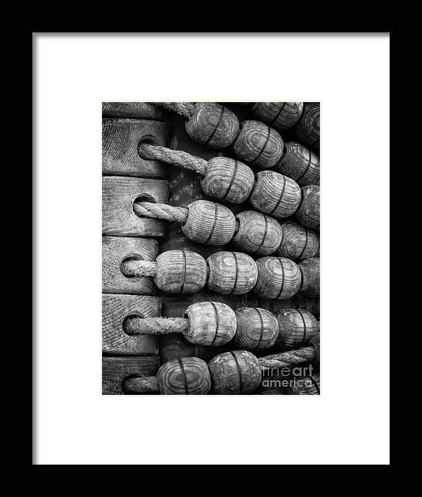 De Arend Framed Print featuring the photograph Rigging On Dutch Sailship De Arend by Inez Wijker