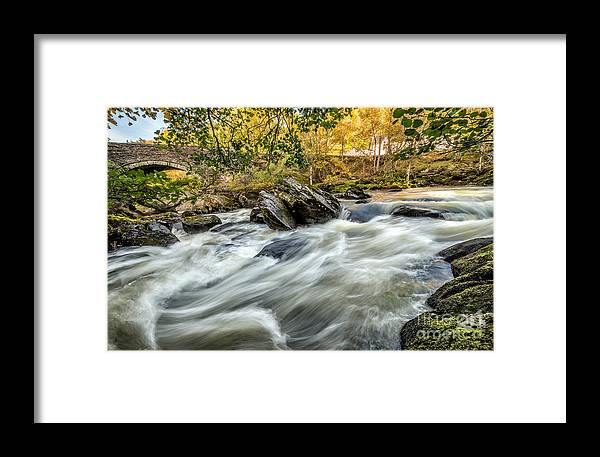 Waterscape Framed Print featuring the photograph Rocky River by Adrian Evans