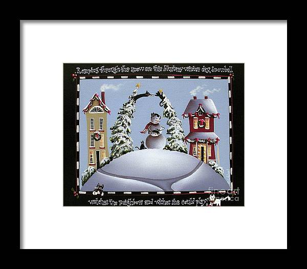 Art Framed Print featuring the painting Romping Through The Snow by Catherine Holman