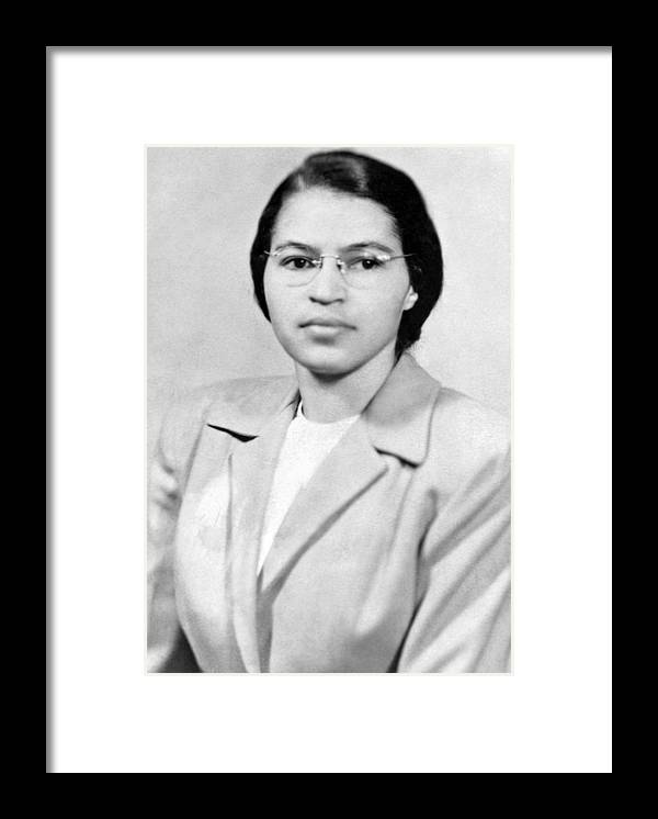 1950s Framed Print featuring the photograph Rosa Parks by Granger