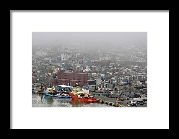 Saint Framed Print featuring the photograph Saint John's. Newfoundland. by Fernando Barozza