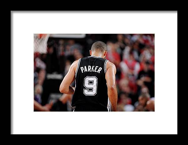 Playoffs Framed Print featuring the photograph San Antonio Spurs V Portland Trail by Garrett Ellwood