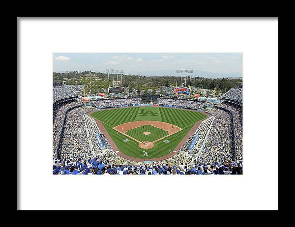 American League Baseball Framed Print featuring the photograph San Francisco Giants V Los Angeles by Harry How