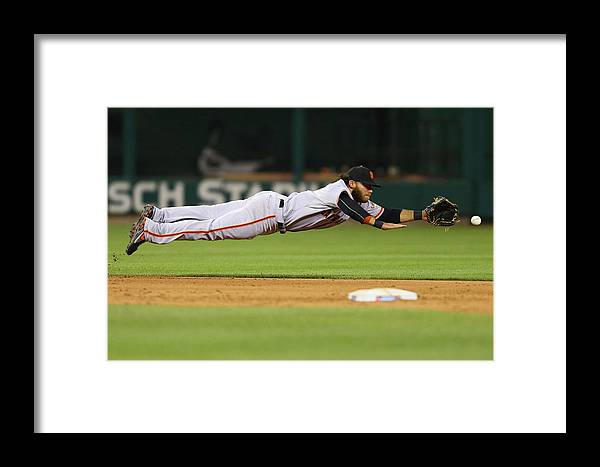 Ninth Inning Framed Print featuring the photograph San Francisco Giants V St. Louis 2 by Dilip Vishwanat