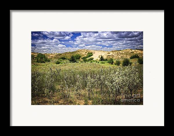 Sand Framed Print featuring the photograph Sand Dunes In Manitoba by Elena Elisseeva