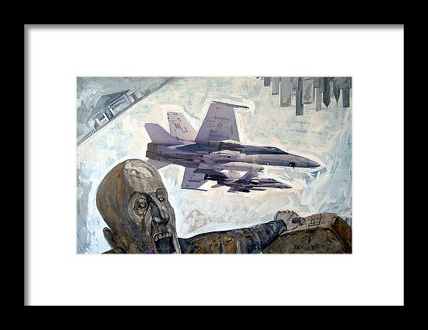 Nine Eleven Framed Print featuring the painting Scream by Filip Mihail