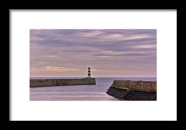 Co. Durham Canvas Framed Print featuring the photograph Seaham Harbour by Trevor Kersley