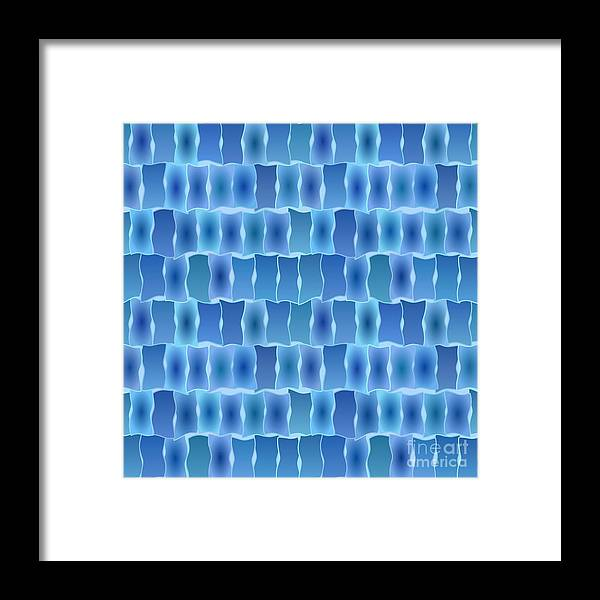 Abstract Framed Print featuring the digital art Seamless Colored Background by Christophe ROLLAND