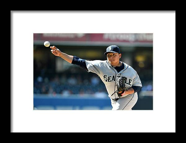 American League Baseball Framed Print featuring the photograph Seattle Mariners V San Diego Padres by Denis Poroy