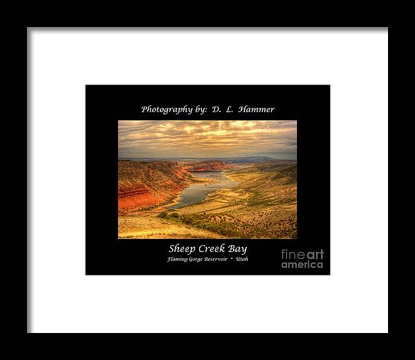 Flaming Gorge Framed Print featuring the photograph Sheep Creek Bay by Dennis Hammer