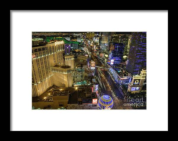 Strip Framed Print featuring the photograph Sin City by Eddie Yerkish
