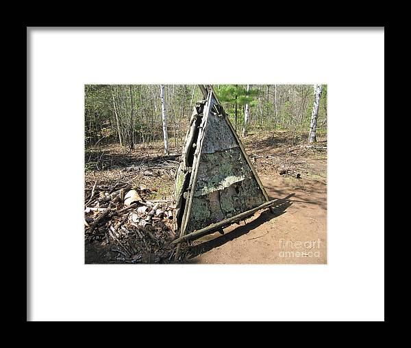 Ojibwe Framed Print featuring the photograph Smoke House by Terry Hunt
