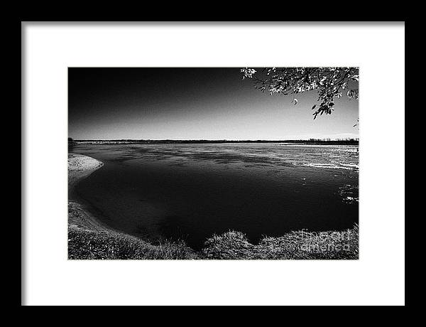 South Framed Print featuring the photograph south Saskatchewan river near saskatoon Canada by Joe Fox