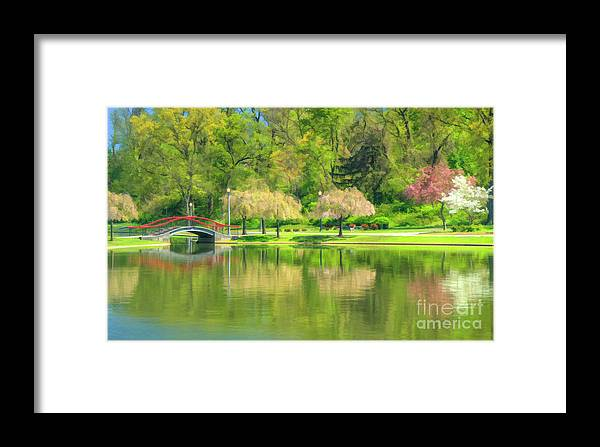 Lakes Framed Print featuring the photograph Springtime Reflections by Geoff Crego