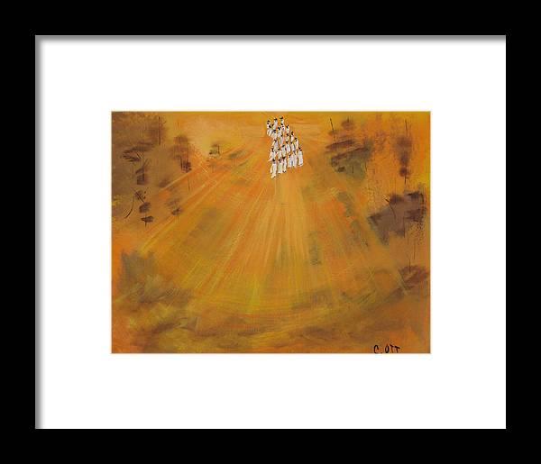 Sunshine Framed Print featuring the painting Sun Choir by Calvin Ott