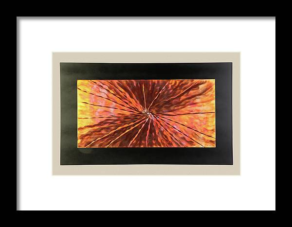 Abstract Framed Print featuring the sculpture Super Nova by Rick Roth