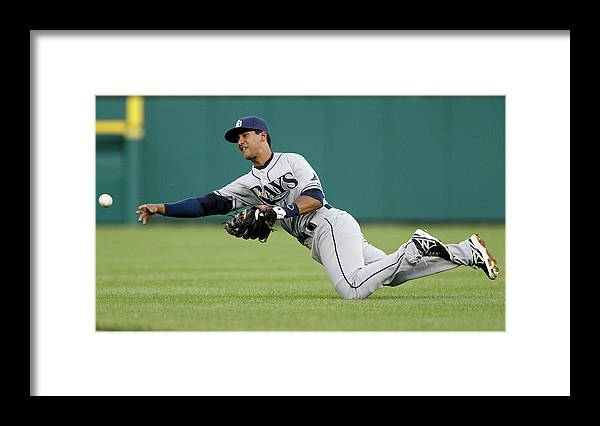 American League Baseball Framed Print featuring the photograph Tampa Bay Rays V Detroit Tigers 2 by Duane Burleson