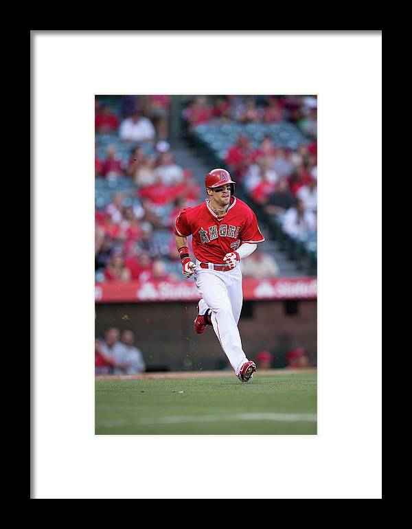 American League Baseball Framed Print featuring the photograph Tampa Bay Rays V Los Angeles Angels Of 2 by Paul Spinelli