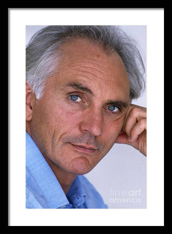 Terence Stamp Framed Print featuring the photograph Terence Stamp by Ros Drinkwater