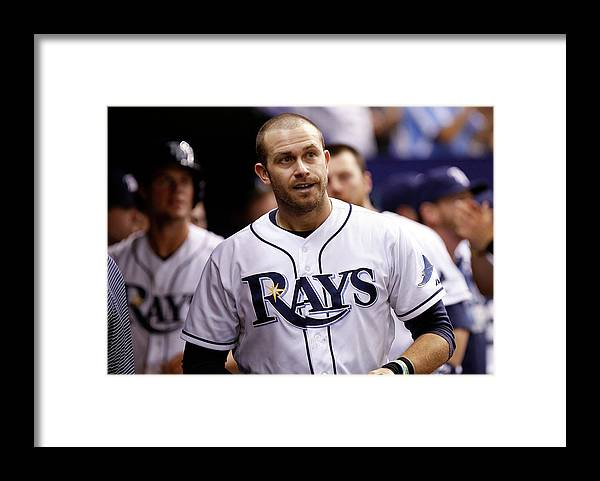 Instant Replay Framed Print featuring the photograph Texas Rangers V Tampa Bay Rays 2 by Brian Blanco