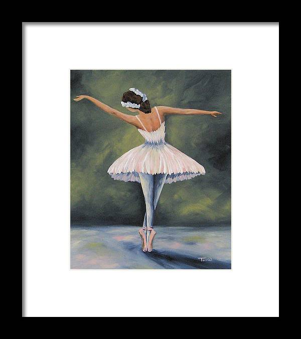 Ballerina Framed Print featuring the painting The Ballerina IV by Torrie Smiley