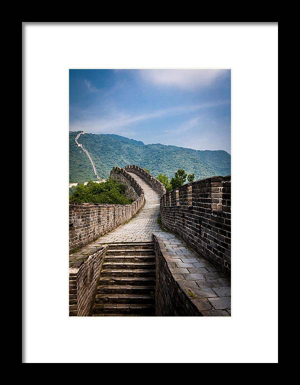 China Framed Print featuring the photograph The Great Wall Of China by Gary Fossaceca