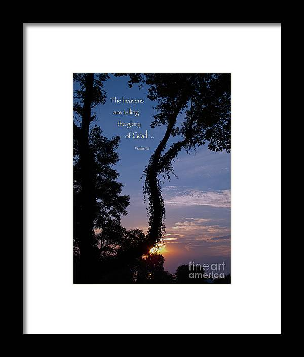 Sunset Framed Print featuring the photograph The Heavens Are Telling by Ann Horn
