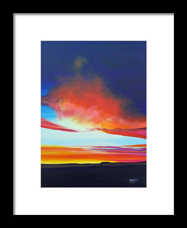 Landscape Framed Print featuring the painting The Long Way Home by Hunter Jay