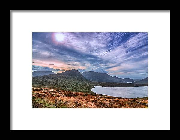 Cloud Framed Print featuring the photograph The Mourne Mountains by Jacek Tomczak