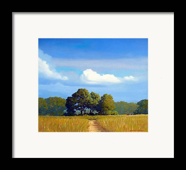 Landscape Framed Print featuring the painting The Path by Kevin Lawrence Leveque