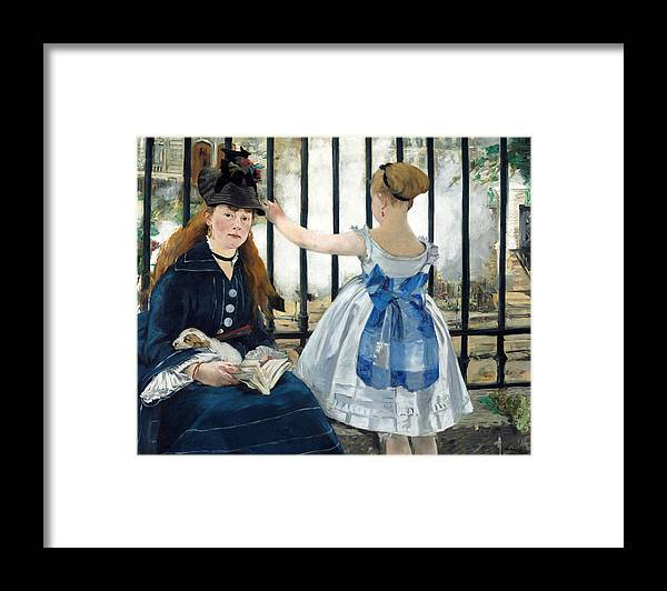 1873 Framed Print featuring the painting The Railway by Edouard Manet
