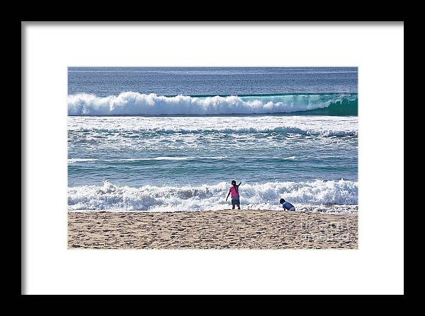 Susan Wiedmann Framed Print featuring the photograph Thundering Waves by Susan Wiedmann