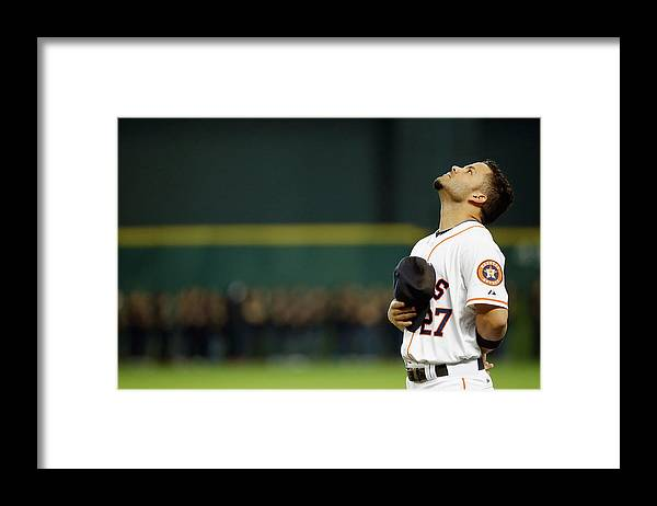 People Framed Print featuring the photograph Toronto Blue Jays V Houston Astros by Scott Halleran