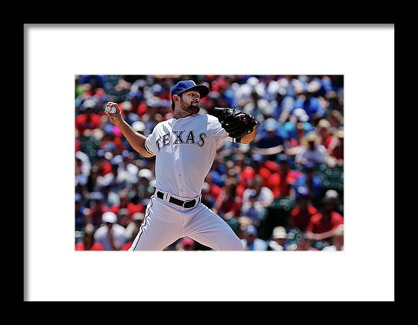 American League Baseball Framed Print featuring the photograph Toronto Blue Jays V Texas Rangers 2 by Brandon Wade