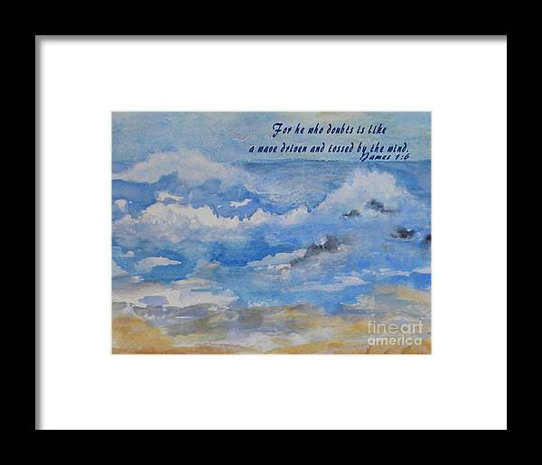 Greeting Card Framed Print featuring the painting Tossing And Turning by Sandra Ramsey