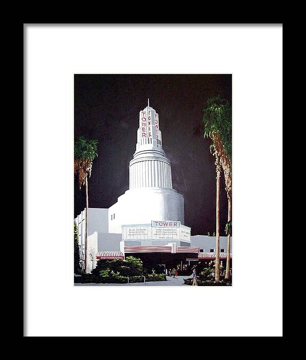 Sacramento Framed Print featuring the painting Tower Theatre by Paul Guyer