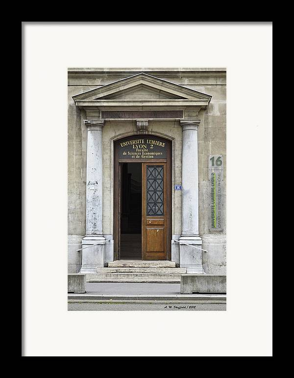 Universite Lumiere Framed Print featuring the photograph Universite Lumiere by Allen Sheffield