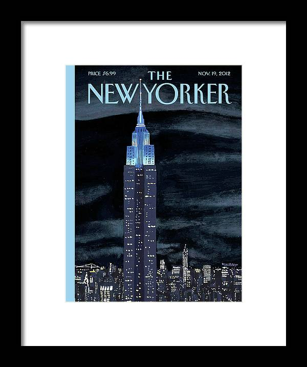 New York City Framed Print featuring the painting Rhapsody In Blue by Mark Ulriksen